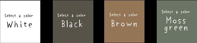 White/Black/Brown/Moss green
